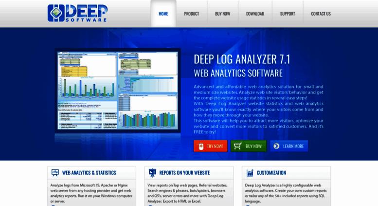 Access deep-software com  Deep Log Analyzer - IIS, Apache