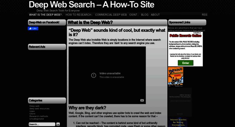 Access deep-web org  Deep Web Research Resource