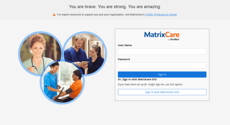 Access demo-ca matrixcare com  MatrixCare CareAssist Login