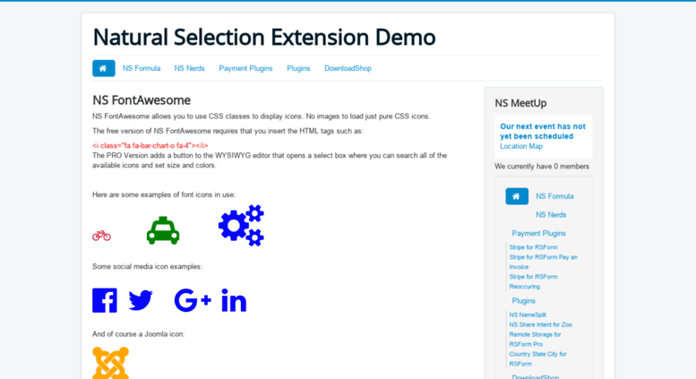 Access demo nswd co  Natural Selection Joomla Extensions Demo