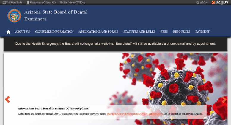 Access dentalboard az gov  Arizona State Board of Dental Examiners