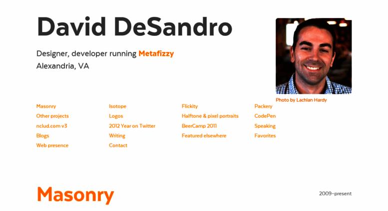 Access desandro com  David DeSandro