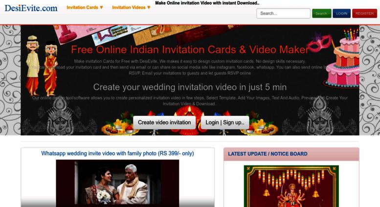 Access Desievite Com Free Indian Invitation Cards Video