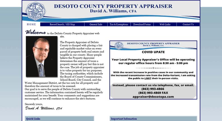 Access desotopa.com. DeSoto County Property Appraiser ... on desoto zoning map, desoto county map, desoto parish line map, desoto parish school zone map, desoto traffic map,