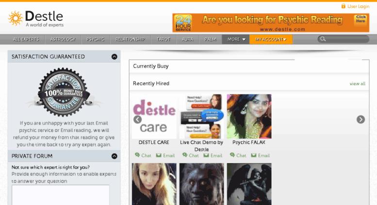 Access destle co uk  Online Psychic Reading, Live Psychics