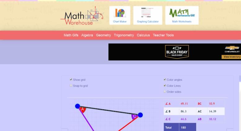 Access dev meta-chart com  Interactive Math Activities