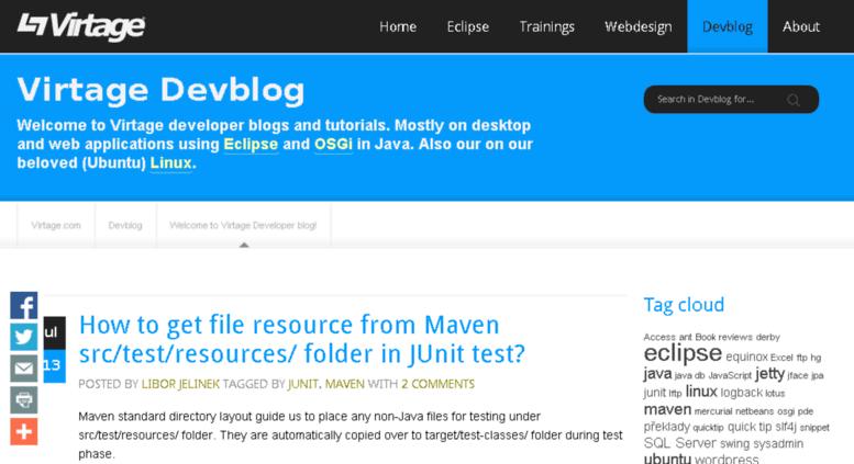 Access devblog virtage com  Virtage Devblog — java, eclipse