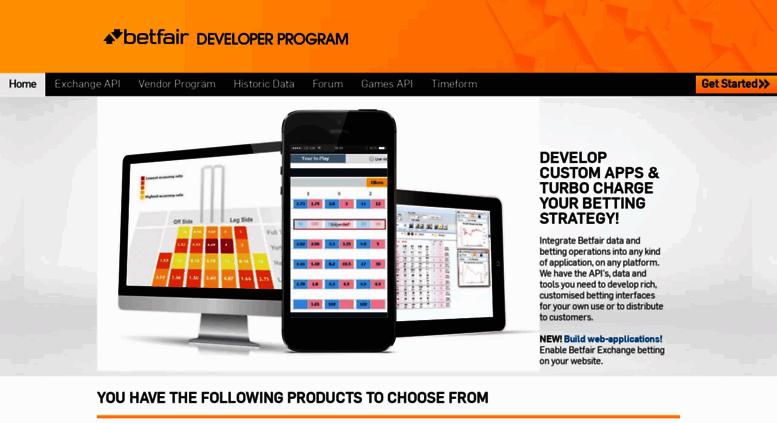 Access developer betfair com  Betfair APIs, Data and Tools