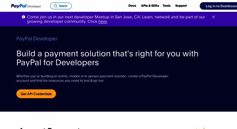 Access developer paypal com  PayPal Developer Documentation
