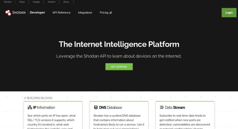 Access developers shodan io  Shodan Developer
