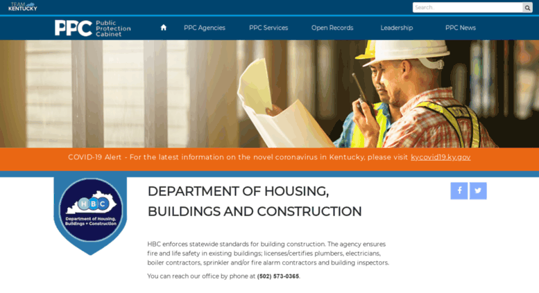 Access dhbc ky gov  Department of Housing, Buildings and