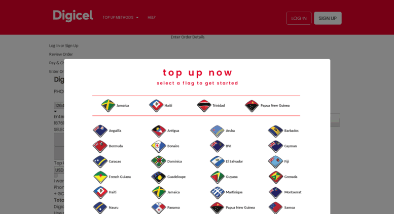 Access digiceltopup com  Digicel Online Top Up: Send Mobile