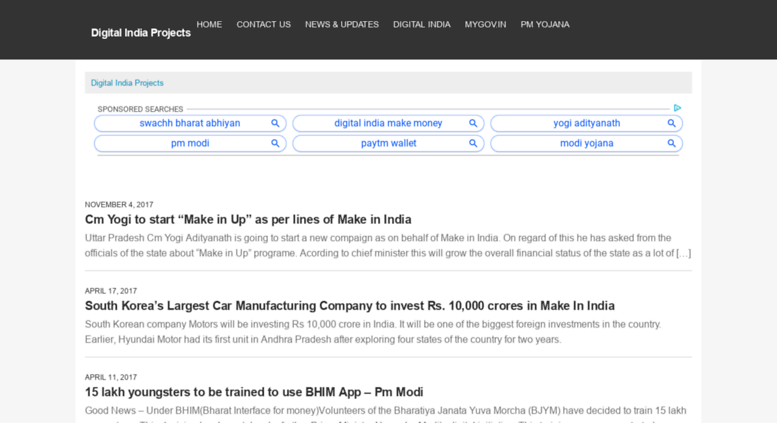 Access digitalindiaprojects net  Digital India Projects -