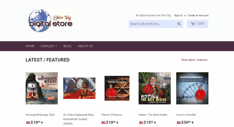 Access digitalstore shivyogindia com  Shiv Yog Store