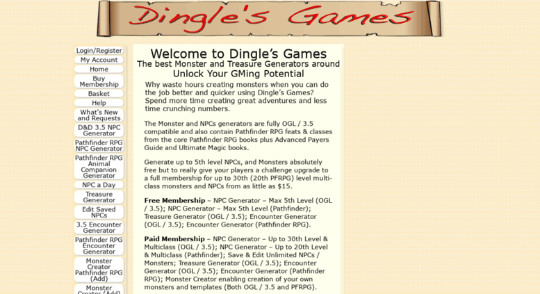 Access dinglesgames com  D&D 3 5 and Pathfinder RPG Monster and NPC