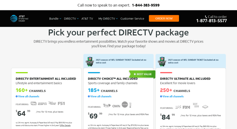 Access direct2tv com  DIRECTV Packages | 1-800-786-6131 | TV