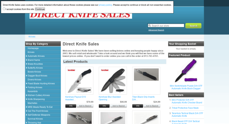Access directknifesales com  Automatic Knives Switchblade