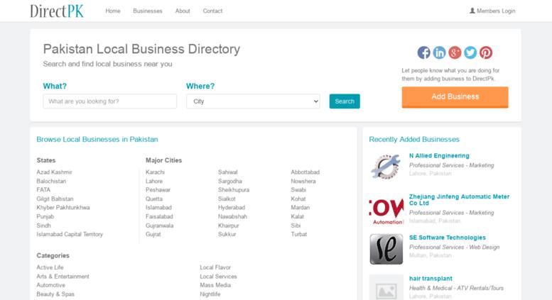 Access directpk com  Pakistan Local Business Directory, Karachi
