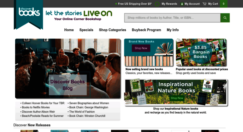 Access discoverbooks com  Buy Used Books Online | Discover
