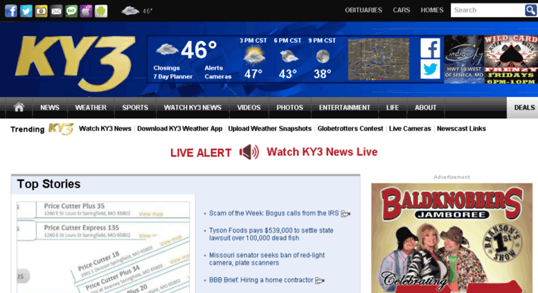 Access discussions ky3 com  KY3 News, Weather, and Sports in