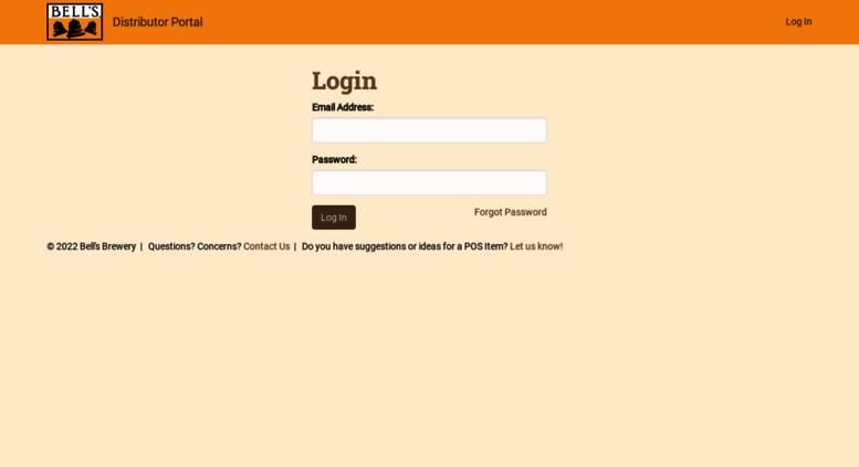 Access distributor bellsbeer com  Login | Bell's Distributor