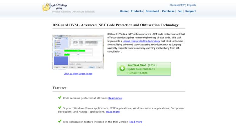 Access dnguard net  DNGuard HVM -  Net obfuscator and code