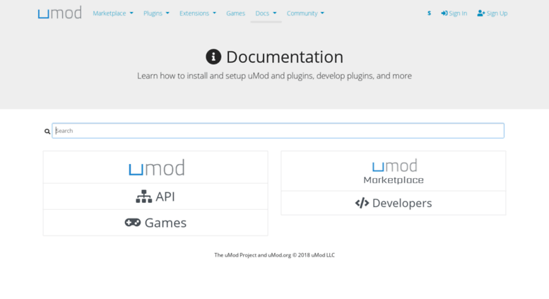 Access docs oxidemod org  uMod - Documentation