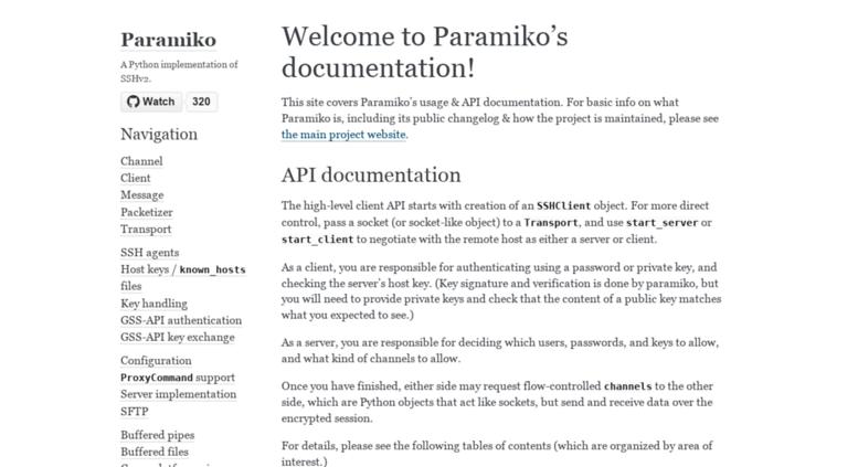 PARAMIKO DOCUMENTATION EPUB DOWNLOAD