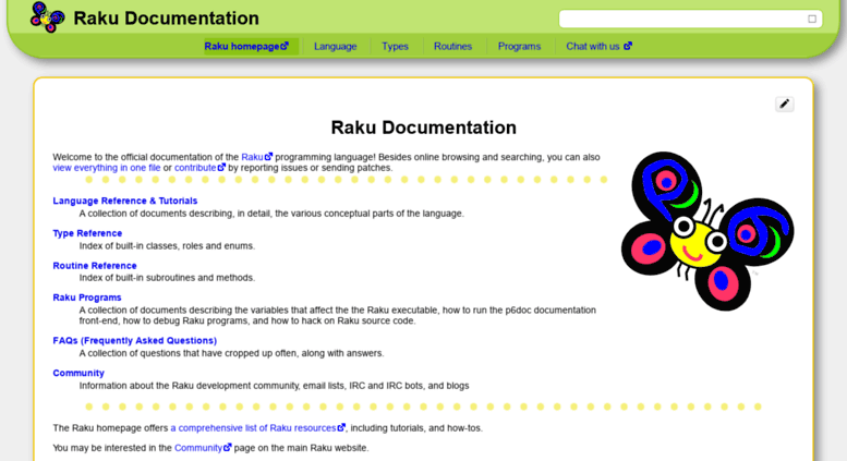 Access docs perl6 org  Perl 6 Documentation