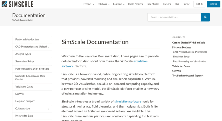 Access docs simscale com  Overview — SimScale Documentation