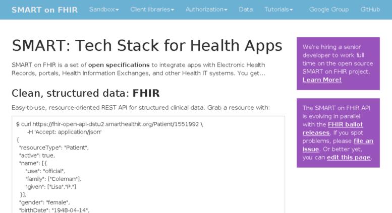 Access docs smartplatforms org  SMART on FHIR