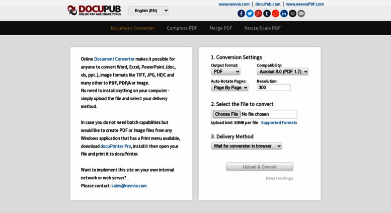 Access docupub com  Free Online PDF Converter  Batch Convert