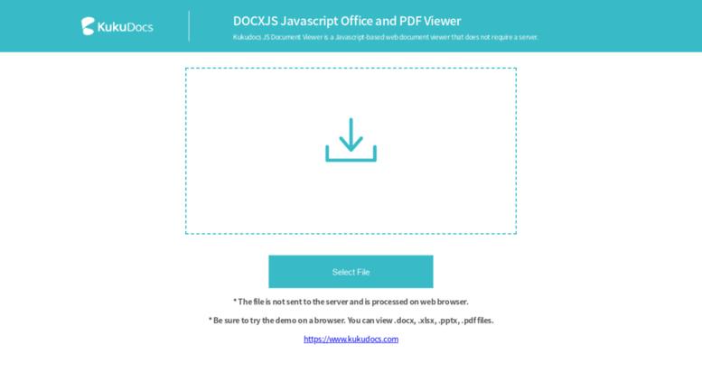 Access docxjs com  DOCXJS Javascript Office and PDF Viewer | KUKUDOCS