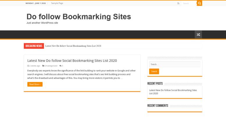 Access dofollowbookmarkingsites com  Top High DA New