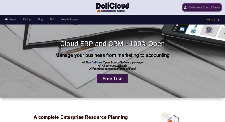 Access dolicloud com  Cloud Open Source ERP and CRM for
