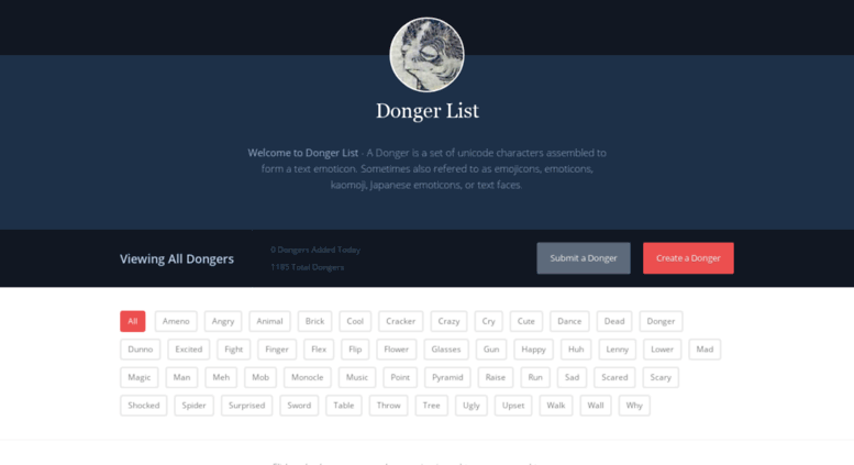 Access dongerlist com  Welcome to Donger List - A Donger is a set of