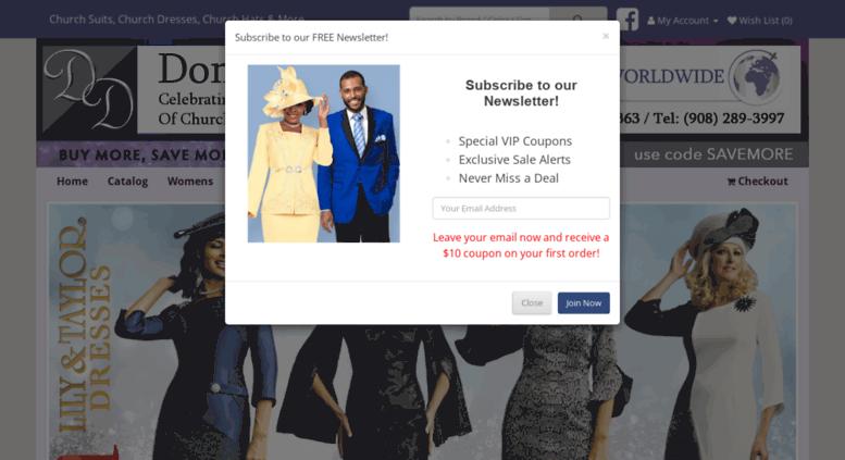 fbd3dadc3b8f Access donniesdress.com. Donnies Dresses - Church Suits