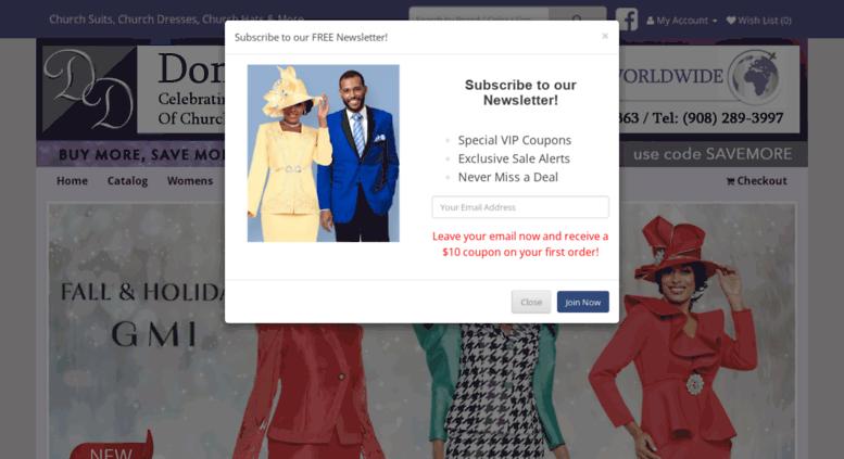 72f8d988163e Access donniesdresses.com. Donnies Dresses - Church Suits