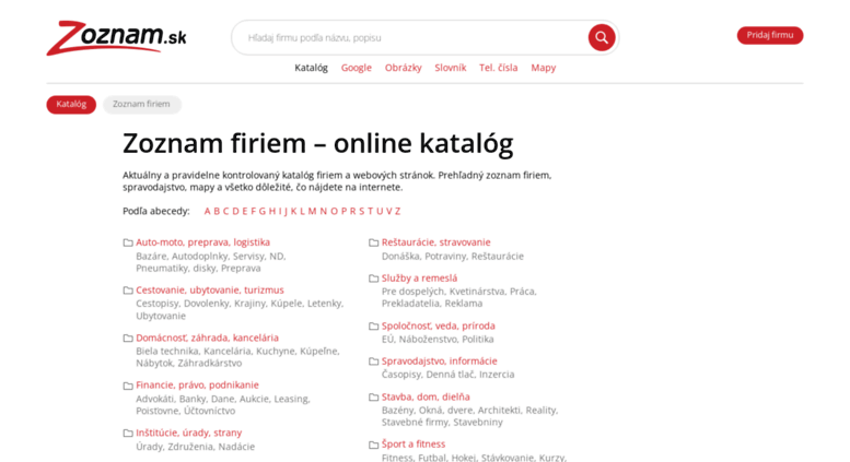 9589b5e35 Access dopytovac.zoznam.sk. Zoznam firiem - katal?g firiem na ...