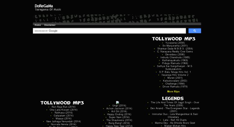 Access doregama info  DoReGaMa - Telugu Hindi Tamil Mp3 Songs Free