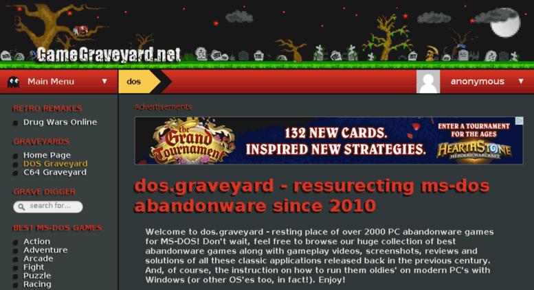 Access dos gamegraveyard net  dos graveyard - classic MS-DOS