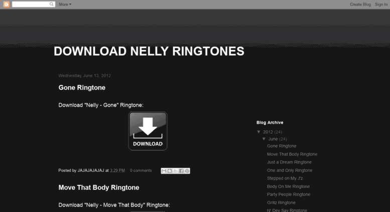 Nelly ringtones download.