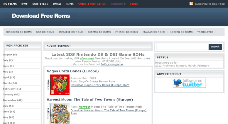 download free nintendo roms