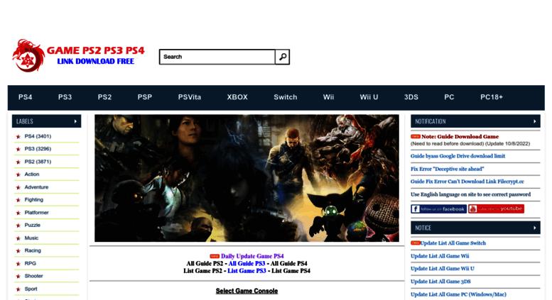 Access downloadgameps3 com  Download game PS3 PS4 RPCS3 PC