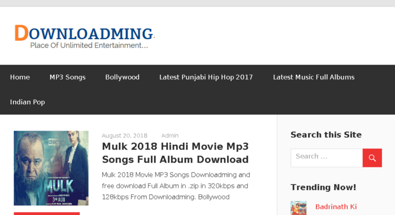 mp3 songs 2017 and 2018 download