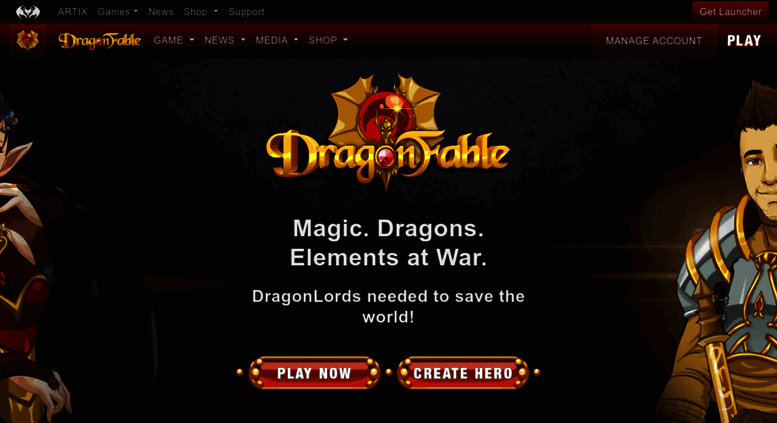 Access dragonfable com  Dragon Fable - Play a free RPG in a