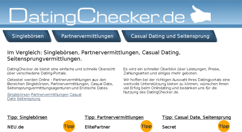 casual dating Vergleich