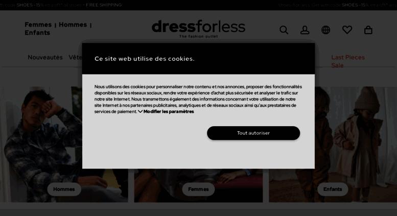 dress for less Online Outlet Vêtements de marques jusqu'à