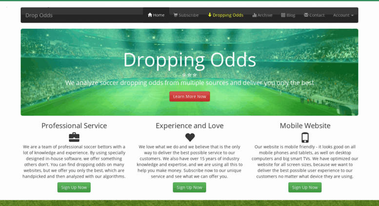 Access dropodds com  Dropping Odds - Football Odds Movements
