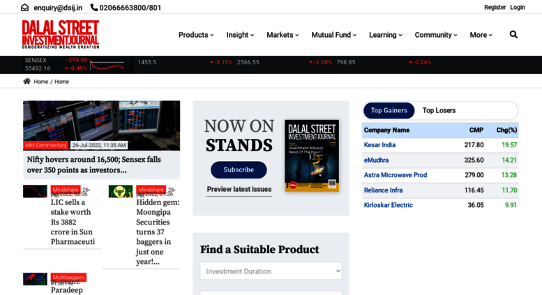 Access dsij in  Share/Stock Market Tips, Indian Stock Market News